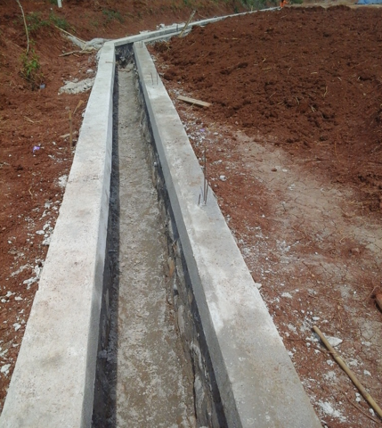 Pembuatan Saluran Air di Grand Mekarsari Residence